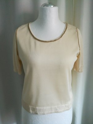 Kurz Pullover / Creme / Fontana Couture