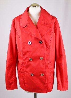 outerwear Gabardina rojo tejido mezclado