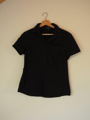Kurzärmelige Bluse in schwarz