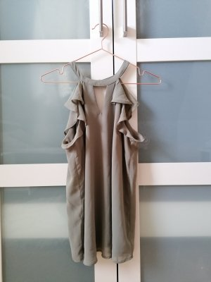Amisu Blusa sin mangas verde grisáceo-gris verdoso