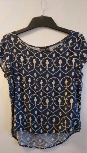 Kurzärmelige Bluse mit vintage Muster