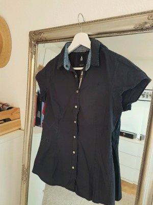 Kurzärmelige Bluse von GAASTRA Gr. S dunkelblau