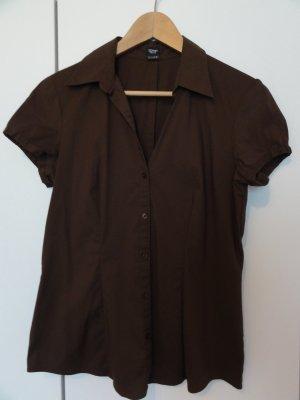 kurzärmelige Esprit Bluse in braun - Gr 40