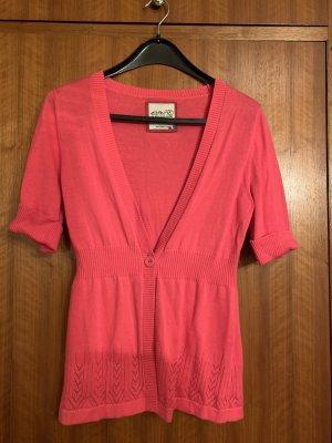 Esprit Gilet tricoté rouge framboise