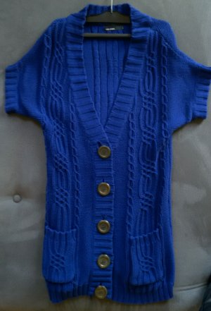 Kurzärmeliger dunkelblauer Strickcardigan von Vero Moda Größe S