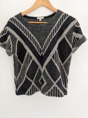 Kurzärmeliger Pullover mit Art deco Muster
