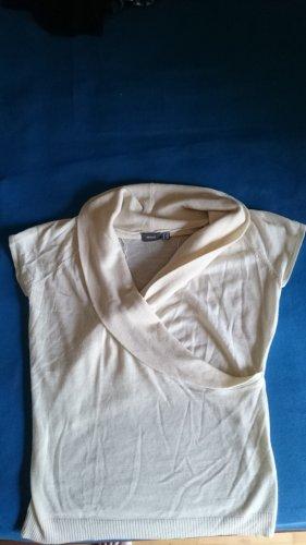 Mexx Sweater met korte mouwen room Acryl