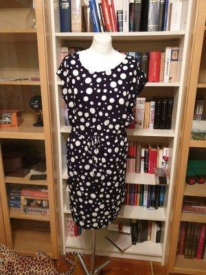Object Sukienka mini biały-ciemnoniebieski