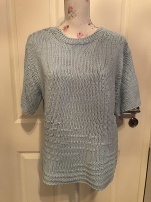 Belle Sweater met korte mouwen azuur