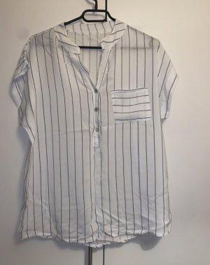 Butik Camicia blusa bianco-blu scuro
