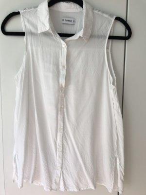Pull & Bear Top koszulowy biały