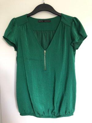 Kurzärmlige Bluse in grün