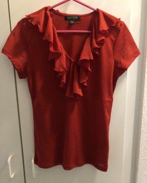 kurzärmlige Bluse von Ralph Lauren in rot