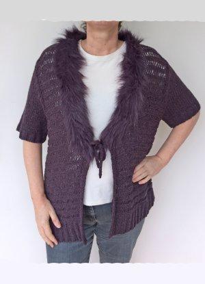 Samoon by Gerry Weber Fur vest dark violet-blue violet wool