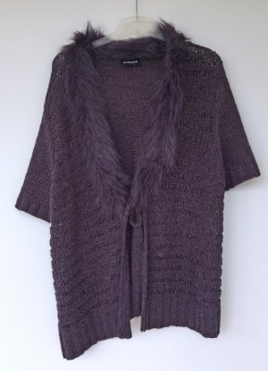 Samoon by Gerry Weber Chaleco de piel violeta oscuro-violeta azulado Lana