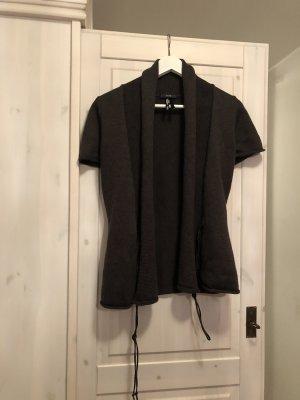 Zero Short Sleeve Knitted Jacket brown