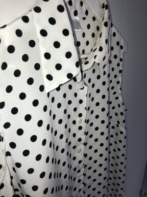 Blouse longue noir-blanc polyester