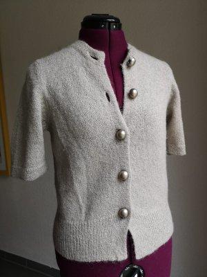 Dorothee Schumacher Short Sleeve Knitted Jacket grey brown