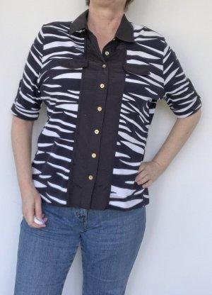 Basler Camicetta a maniche corte nero-bianco Cotone