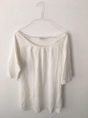 kurzärmlige weiße Bluse von Turnover aus Baumwolle
