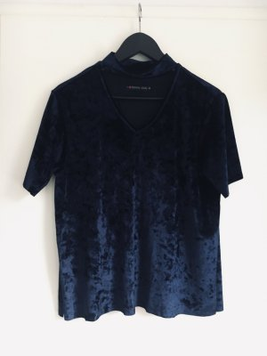 Even & Odd V-Neck Shirt dark blue