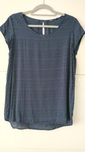 Opus Short Sleeved Blouse white-dark blue