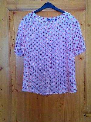 Charles Vögele Short Sleeved Blouse cream-pink