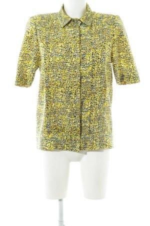 Kurzarm-Bluse abstraktes Muster extravaganter Stil