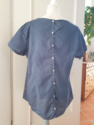 Personal Affairs Blusa de manga corta gris pizarra Algodón