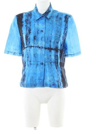 Kurzarm-Bluse mehrfarbig Elegant