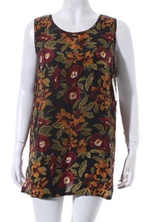 Kurzarm-Bluse mehrfarbig Vintage-Look