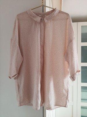 Kurzarm-Bluse in rosa/schwarz von Promod, Gr. 36