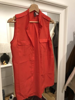 Kurzarm Bluse in rot