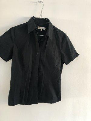 Kurzarm Bluse in schwarz