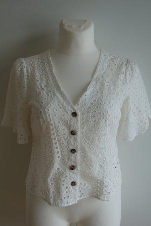Oasis Short Sleeved Blouse white cotton