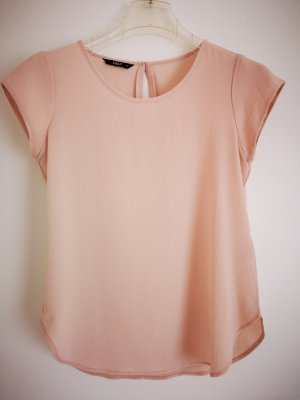 Kurzarm-Bluse rosa