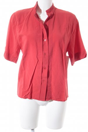 Kurzarm-Bluse rot Casual-Look