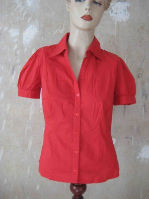 Kurzarm-Bluse, rot - casual Look