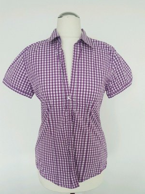 Marc O'Polo Checked Blouse white-lilac