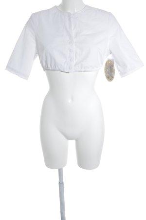 Kurzarm-Bluse weiß Elegant