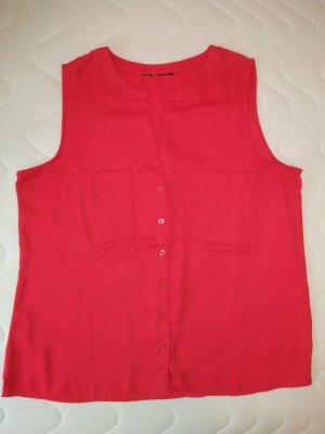 kurzarm bzw. ärmellose Bluse Bon Prix Gr. L , 40, 42, rot himbeere, Top, Shirt