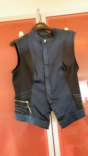 0039 Italy Blazer en jean bleu foncé
