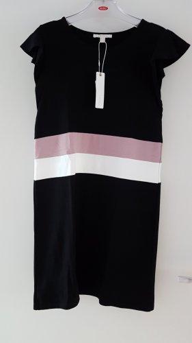Kurzarm Kleid mit Farbstreifen kleine Flügelärmelchen Gr. S