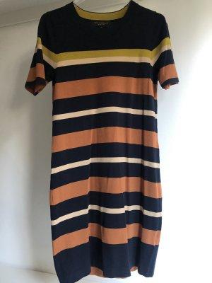 Paul Costelloe Swetrowa sukienka ciemnoniebieski-brzoskwiniowy