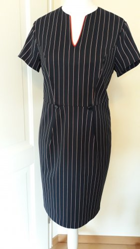 Kurzarm Kleid von Promiss Gr. 40 - neuwertig- nachtblau rote/weisse Streifen mit Elasthan