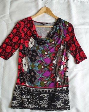 Comma Camisa con cuello caído multicolor