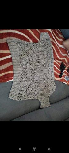 Jersey de manga corta color plata-marrón
