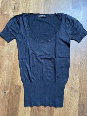Kurzarm-Pullover dunkelblau