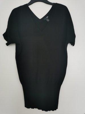 Kurzarm-Pullover in Schwarz