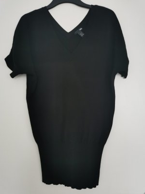H&M Sweater met korte mouwen zwart Viscose